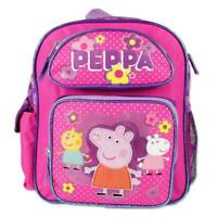 Peppa Pig Preschool 12''Backpack School Bag Pink 3D Print Side Pocket~Fast Ship