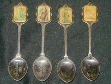 4 VINTAGE HUMMEL DESIGN COLLECTIBLE SPOONS, CHRISTMAS 1983,1985, ARS EDITION