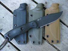 Valhalla Custom Kydex Sheath KaBar Becker BK17 CLIP POINT BLACK SHEATH ONLY