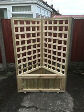 corner planter with trellis decking patio garden free local delivery or postage