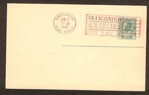 ANTIGONISH HIGHLAND GAMES SLOGAN CANCEL IN RED - 1941 - ANTIGONISH, N. S.