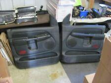 02-05 Dodge Ram 1500 door panel front L&R set full power SLATE quad cab