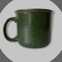 Dark Green speckled Mulberry Home Collection heavy coffee mug cup