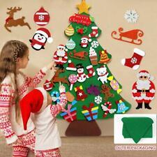 Kids DIY Felt Christmas Tree Santa Ornaments Wall Door Hanging Decor Xmas Gift