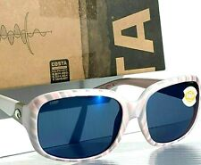 4ed40f0c63662 NEW  COSTA GANNET White Pink Shell POLARIZED 580P Blue Womens Sunglass GNT  121