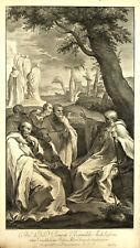 SAN ROMUALDO CAMALDOLI St Romuald - Incisione Originale 1700 J. Frey