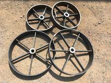 """More details for . shepherds hut wheels 2x 18"""" and 2x 24"""" wheels"""
