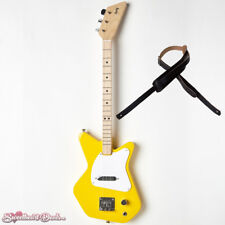 Loog Pro Electric Yellow 3-Stringed Solidbody Guitar - with Strap