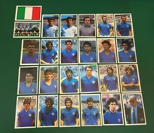 LOTTO DI 25 FIGURINE CALCIATORI CALCIO FLASH WORLD CUP MEXICO 86 TEAM ITALIA