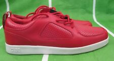 CLAE- RUBY PARKER RED  LEATHER MEN SHOES    size   10