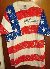 TEAM USA OLYMPICS swimming XL tee American flag T shirt 1990s Old Glory
