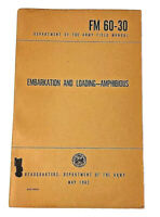 May 1962 Embarkation and Loading Amphibious Army Military Booklet