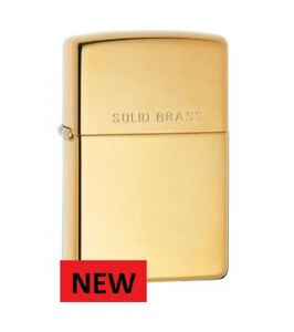 BRUSHED SOLID BRASS  INGRAVED ZIPPO 204a  FREE  UNITED KINGDOM.   SHIPPING......
