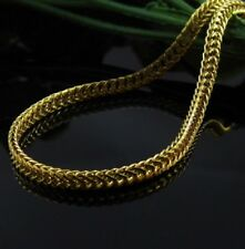 18' inch Yellow Gold Filled Stainless Steel Necklace Box Curb Link Chain UK N38