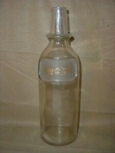 OLD VINTAGE 1900's Coca Cola GOLD Etched Back Bar Syrup Bottle
