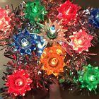 vintage christmas tree star, foil tree star, 70's-80's