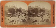 USA Philadelphie Centennial Exposition 1876 Photo Barker Stereo Vintage