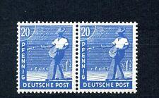 20 Pfg. Kontrollrat II 1947** seltene Farbe Paar Michel 950 c Befund (S10008)