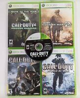 Xbox 360 games lot / bundle of 5 Call of Duty Modern Warfare World At War Ghosts