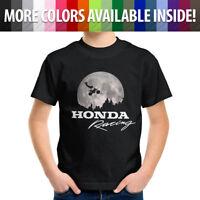 Honda Motocross AMA Freestyle Motorcycle ET Flying Scene Kids Tee Teen T-Shirt