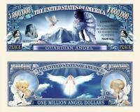 ANGE GARDIEN BILLET PORTE-BONHEUR ! Paix Chance Million Dollar us Religion Angel