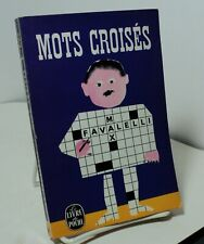 Mots Croises by Max Favalelli - Crossword puzzles in French - 1963