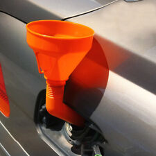 1pcs Orange Car Oil Water Funnel Petrol Diesel Flex Spout & Filter Accessories