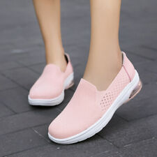 Womens Low Heel Mesh Breathable Casual Comfort Shoes Slip on Loafers Pumps Plus