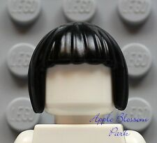 NEW Lego Minifig Short Female BLACK HAIR - Ninja Nya Minifigure Page Head Gear