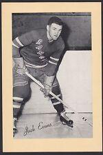 1945-1964 Beehive Group II 2 Hockey Jack Evans Diagonal Name New York Rangers
