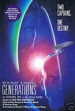 STAR TREK - Generations Book J.M. DILLARD hb/dj 1st Ed