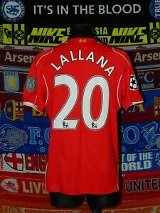 4/5 Liverpool adults L 2014 #20 Lallana cup football shirt jersey trikot soccer