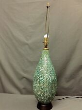 Large Vintage Pottery Ceramic Table Lamp Very Good Condition Refurbished