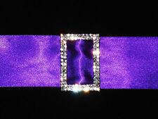 Plata Diamante Rectángulo Hebilla Slider 40x28mm Marco/Correa/Cinta/artesanía/Boda