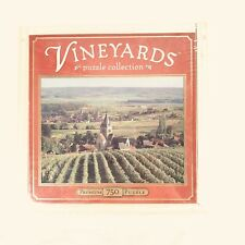 Vineyards 750 Piece Jigsaw Puzzle in Collectible Wood Box Villedommange, France