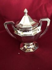 ANTIQUE AMERICAN STERLING SILVER ARTS AND CRAFTS LEBOLT SUGAR BOWL 506 GRAMS