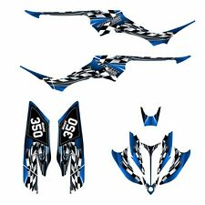 Yamaha Raptor 350 graphics custom racing ATV sticker kit N02500 Blue