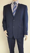 Men's Premium Quality Solid Navy Modern Fit Dress Suits Brand New Suit 42 R