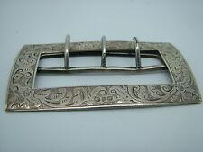 Antique Victorian Sterling Silver Belt Buckle, Levi & Salaman Birmingham 1888
