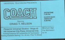 COACH ORIGINAL TV STUDIO AUDIENCE TICKET CRAIG T. NELSON JERRY VAN DYKE
