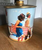 M&S Retro Design Marks and Spencer Biscuit Tin Storage Tin Collectable Seaside