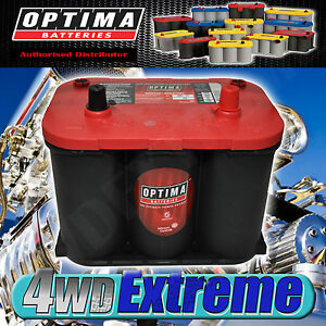 OPTIMA 34R RED TOP BATTERY 12 VOLT NEW AGM 800CCA 4x4 R34 hotrod drag car START