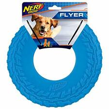 Nerf Dog Rubber Tire Flyer Dog Toy Frisbee Lightweight Durable Floats in Wate...