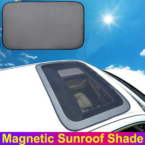 Magnetic Car Sunroof Sun Shade Visor Cover Breathable Mesh Shield UV Protection