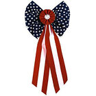 Amscan Old Glory Fourth of July Party Stars & Stripes Bow Decoration, Multi