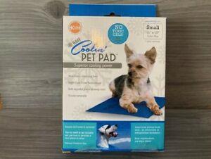 K&H Coolin Pet Pad Dog Mat Bed Small 11 x 15  No Gel BPA Free Blue Indoor Outdoo