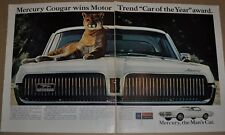 1967 MERCURY COUGAR 2-page advertisement, huge photo