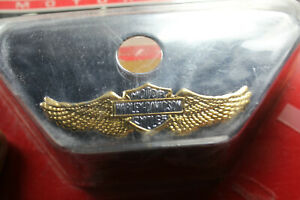 Harley chrome gold FXR rear brake reservoir cover NOS 41718-94T FXRT EPS23447