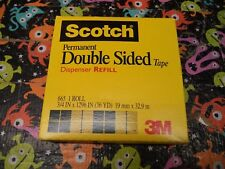 "3M 3/4"" x 1296"" Scotch Double-Coated Tape 665 Sided Roll 3"" Core 36 yard 19mm 33"