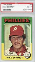1975 Topps Baseball Card Mike Schmidt #70 PSA 7 NEAR MINT Philadelphia Phillies